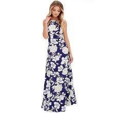 Buy 2017 maxi dress Women Summer Boho Long Party Dresses high Beach Dresses Sundress vestidos mujer floor-length plus size#5 for $8.22 in AliExpress store