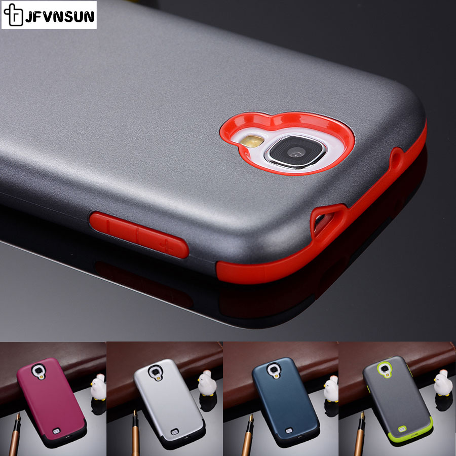 S4 Cover Case SAMSUNG Galaxy S4 NEW Fashion Candy Colors Dual Layer Protective PC + Gel Silicon Rubber Phone Coque Fundas