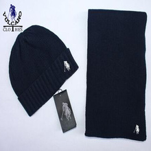 Hot 2015 tee Knitted Wool Scarf And Cap Set hat cotton wool Men and Women charming Winter Caps Beanies 4 colours Top quality(China (Mainland))
