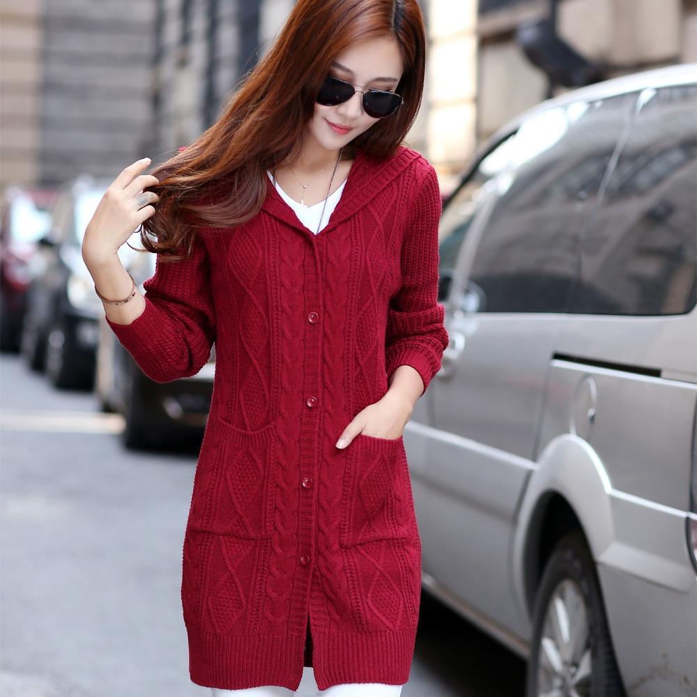 Free Knitting Pattern Long Hooded Cardigan : Online Get Cheap Free Knitting Pattern Hooded Cardigan ...