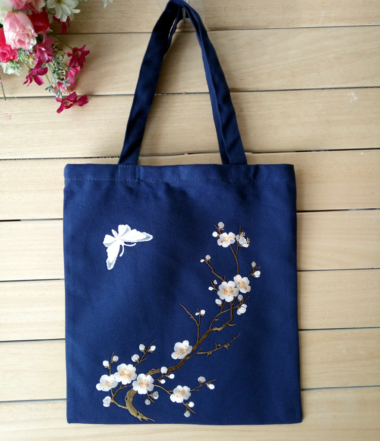 Famous designer brand 2016 Chinese style Vintage original embroidery shopping package ladies small summer canvas top-handle bags(China (Mainland))