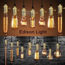 Vintage Retro DIY E27 Spiral Incandescent Light Handmade Fixtures Glass Edison Bulb A19-40W 220V / 110V Pendant Lamps(China (Mainland))