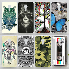 Case For Meizu M3 Note (5.5 inch) Colorful Printing Drawing Plastic Hard Cover for Meizu M3 Note Fashion Transparent Phone Cases