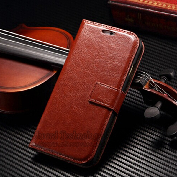 2014 30ps Luxury Crazy Horse Leather Wallet Stand Case for iPhone 6 Plus 5.5