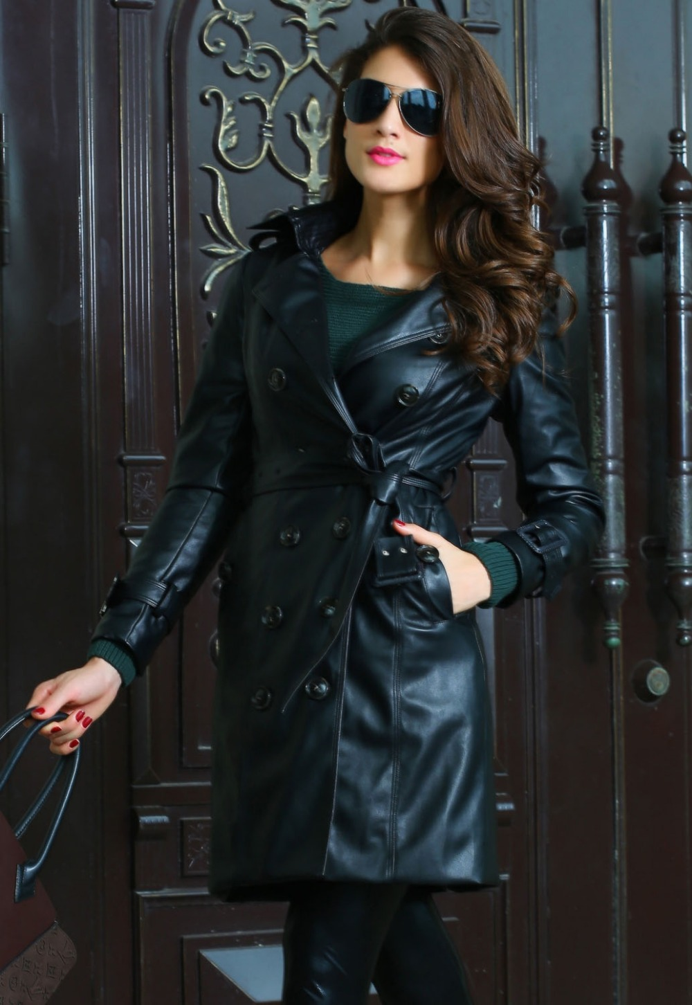 Womens long leather coats sale – Modern fashion jacket photo blog