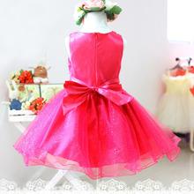 Kids Girls Princess Dress Girls Flower Bow Wedding Party Pageant Tulle Dress