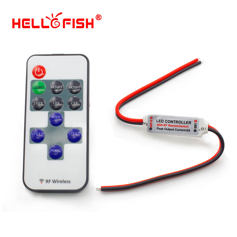 Hello Fish single color LED strip dimmer RF Wireless Remote Controller !! Free shipping!!!(China (Mainland))