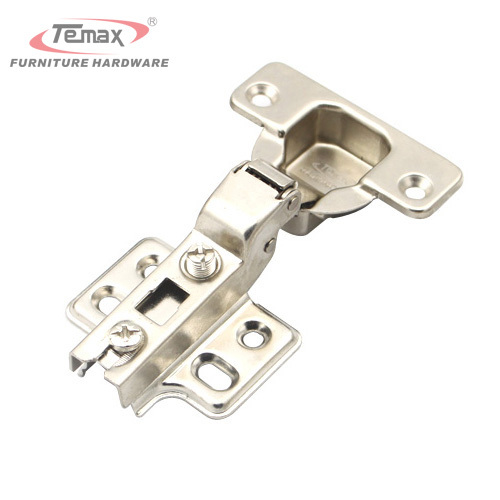 1 Pair 35mm Cup Half Overlay Concealed Hinge Satin Nickel Kitchen Cabinet Door Hinges Without Damper(China (Mainland))