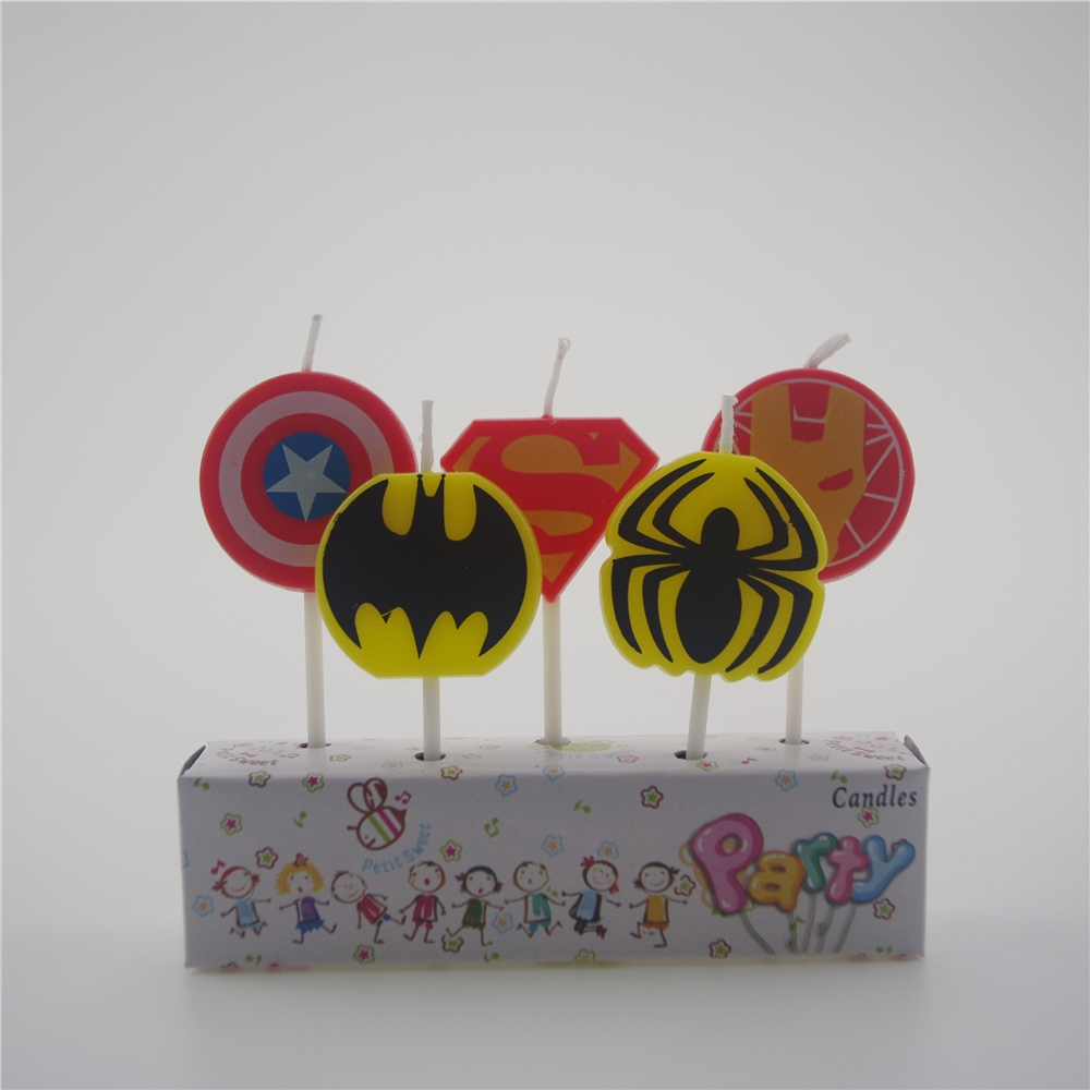 Superman Birthday Cake Candle