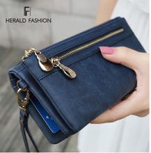 2013 fashion multifunctional day clutch coin purse mobile phone multi card holder wristlet strap female women handbag wallet