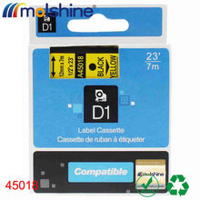 """Buy Molshine 20pcs 45018 Compatible Label Tape DYMO Black Yellow (0.47'' 1/2"""" 12mm) 7m for $71.77 in AliExpress store"""