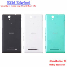 100% Original Back Door Battery Housing Cover Case For Sony Xperia C3 S55T D2502 D2533 With LOGO + Gift Free Shipping
