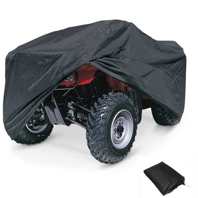 Big Size Black Motorcycle Cover ATV XL 210*120*115cm Weatherproof UV Resistant Dustproof Covering Motor Bike Cover Scooter(China (Mainland))