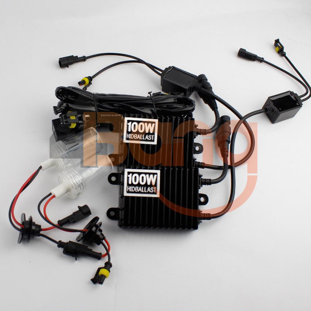 Pair AC 12V 100W HID Xenon Conversion Kit H3 Single Beam Xenon Bulb 4300K 6000K 8000K 10000K 12000K 100W 12V AC HID Slim Ballast(China (Mainland))