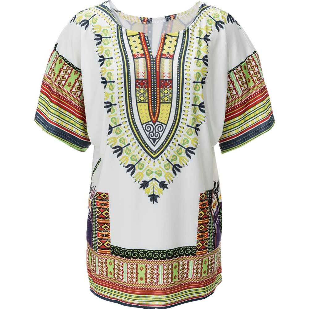 S-XL Dashiki White Ethnic African Dresses Shift Loose Summer Casual Indian Printed Ladies Dresses New Arrival Women Clothes(China (Mainland))