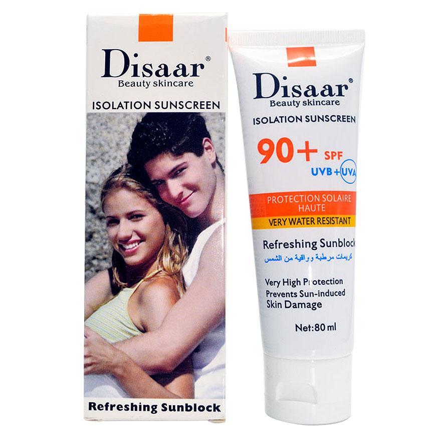 Protección para la Cara Crema Disaar Bloqueador Solar Crema Pigmentación Crema de Protección Solar SPF 90 + + Protector de Piel Hidratante 80g Cuidado de La Cara(China (Mainland))