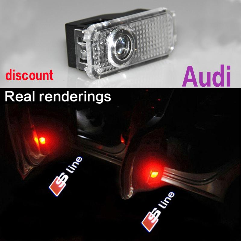 1 Pair CREE car door light ghost shadow light logo projector For Audi A3 A4 A4L A5 A6 A6L A7 A8 Sline s4 s5 s6 s7 TT Q3 Q5 Q7(China (Mainland))