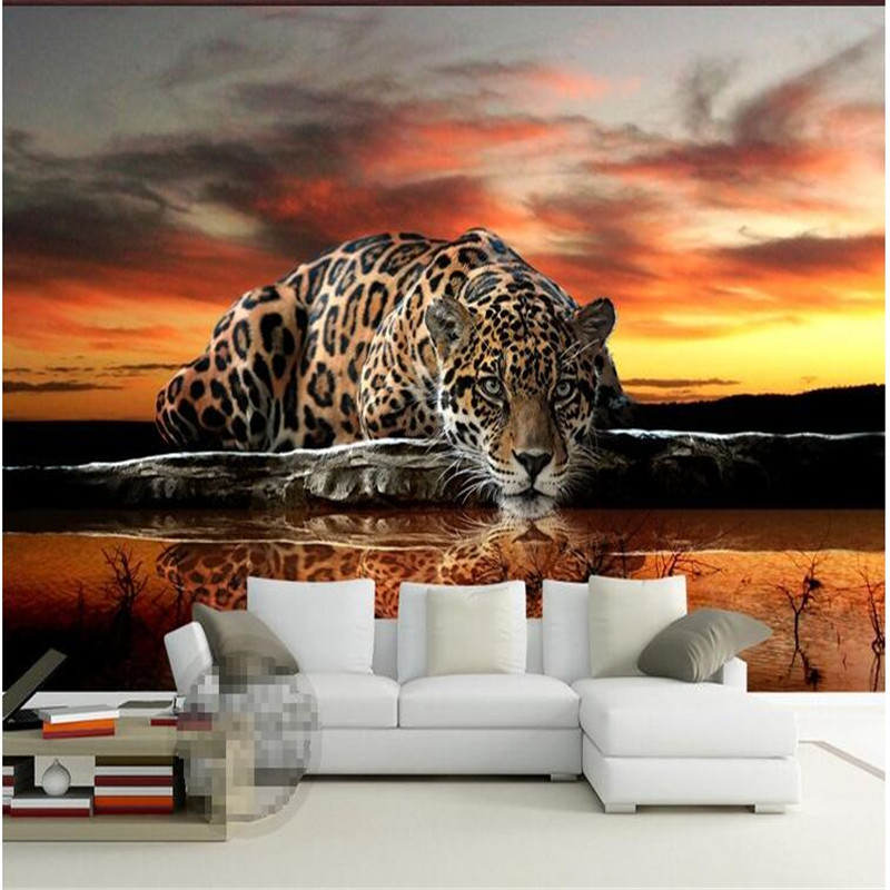 wallpaper high quality leopard wall covering living room sofa bedroom