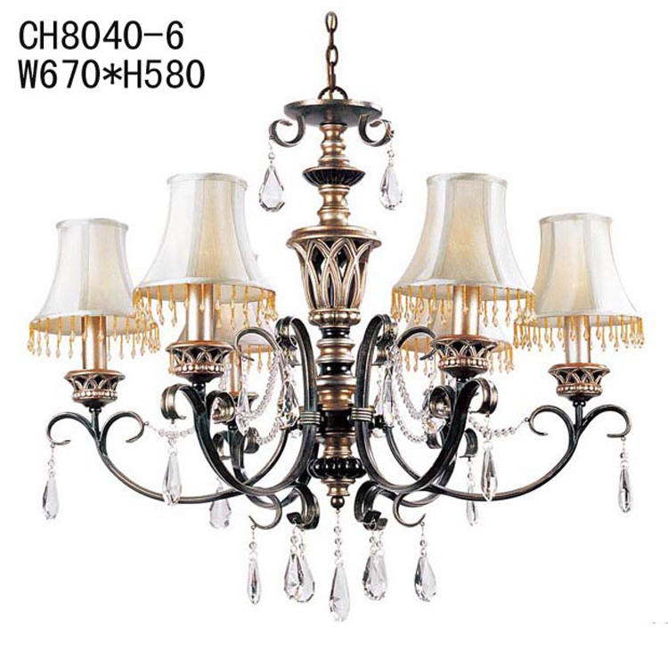 European style garden resin crystal chandelier vintage  : European style garden resin crystal chandelier vintage American fabric lamp shade with living room chandelier dining from www.aliexpress.com size 750 x 750 jpeg 282kB