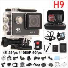 Buy Original H9 Action camera 4K WIFI Ultra HD 1080p 60fps 2.0 LCD 170D Go waterproof Cam pro sports camera gopro hero 4 style RICH for $39.80 in AliExpress store