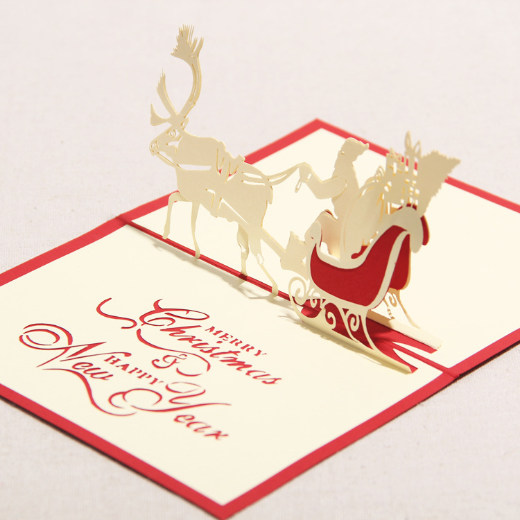 3d greeting card handmade paper crafts merry for Christmas card 3d designs