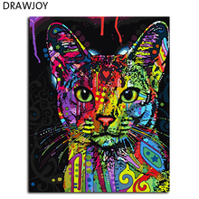Buy DRAWJOY Framed Picture Painting By Numbers Wall Art DIY Oil Painting By Numbers On Canvas Home Decor For Living Room 40*50cm for $5.68 in AliExpress store