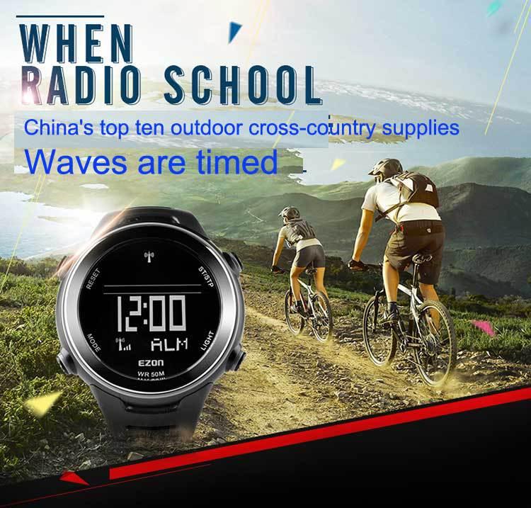 Hot sale Original EZON brand Waves table running sports watch men's multifunctional outdoor Waterproof leisure digital watches