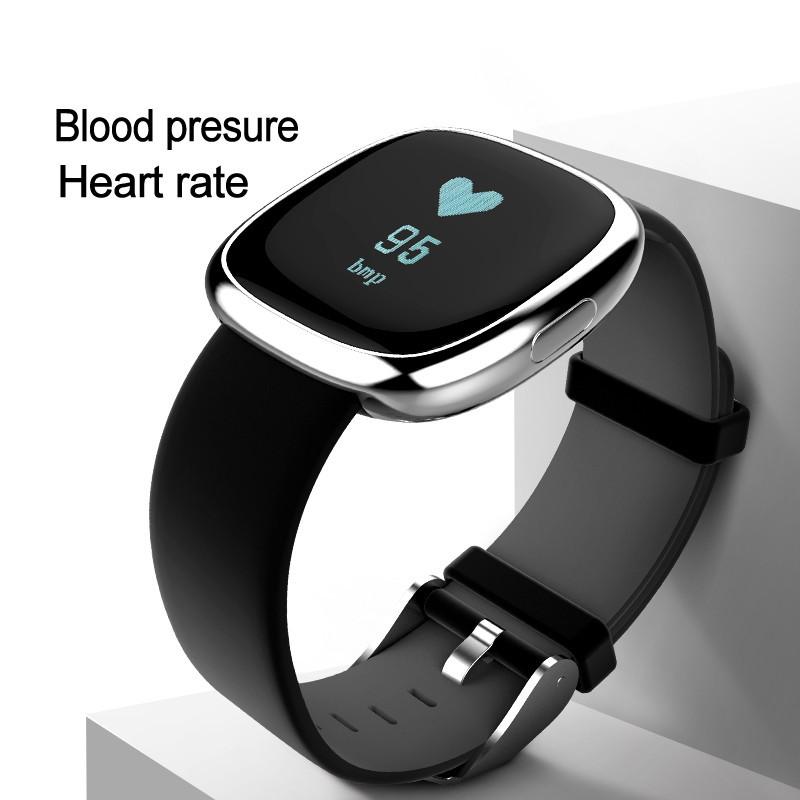 Waterproof Bluetooth P2 Heart Rate Blood Pressure Monitor Sleep Monitor Sports Fitness tracker Watch Smart Wristband Pedometer