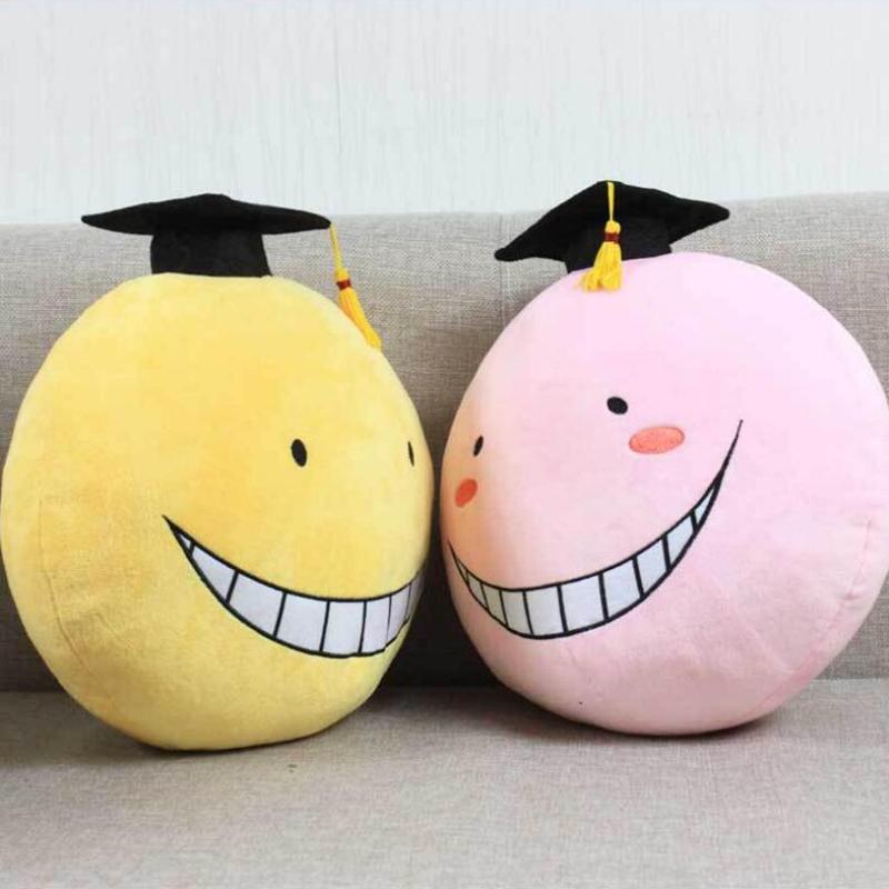 Kawaii 30CM Assassination Classroom Korosensei Soft Plush Toys Anime Lovely Stuffed Animal Pillow Toys For Children(China (Mainland))