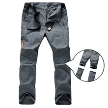 Summer Outdoor Sports Quick Dry Pants Men Camping Fishing trekking Hiking Pants For men Removable thin Breathable trousers