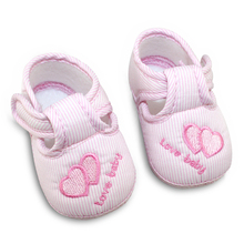 Cotton Lovely Baby Shoes Toddler Soft Sole Buckle Print infant Baby Girl Boy Shoes First Walkers