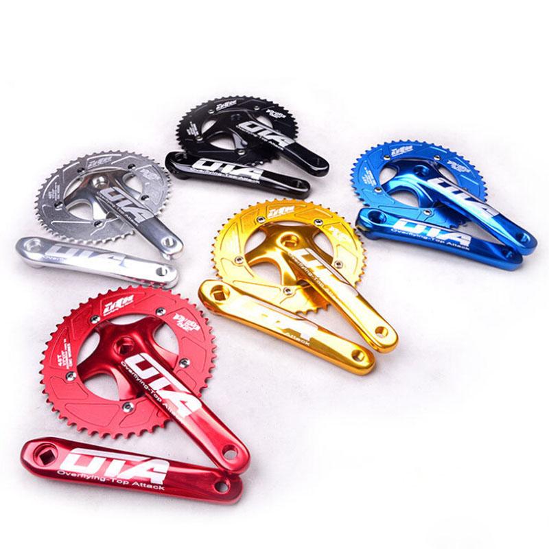 2015 48T Racing Ota Crankset Aluminum Single Speed Track Bicycle bicicleta mountain bike Fixed Gear Chainwheel cranks - ZORRO 'S BIKE COMPANY ZZZ store