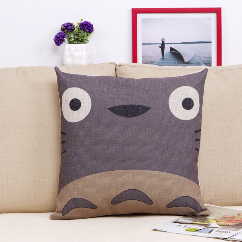 Scandinavian Coussin Cuscini Almofada 45 X 45cm Anime Totoro Decorative Pillow Home Decor Cushion Cojines Decorativos Pouf Futon
