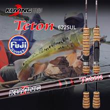 KUYING Teton 1.86 Meters SUL Super Ultralight Carbon Spinning Fishing Rod Lure Fish Pole FUJI Rings Medium Action Free shipping(China (Mainland))