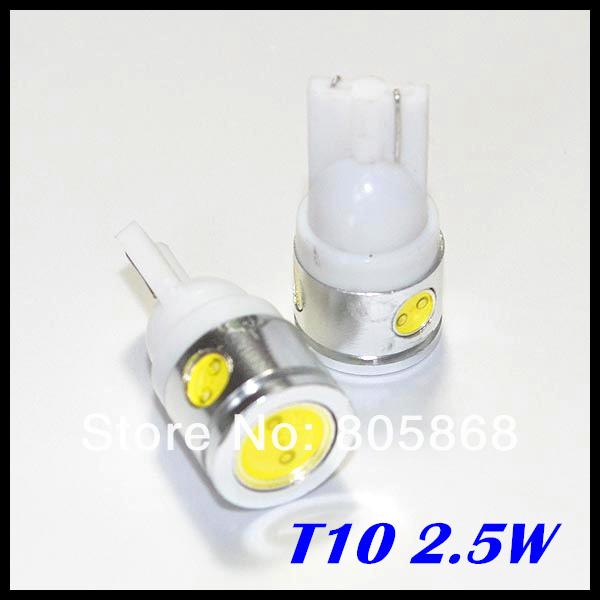 Free Shipping T10 Car LED High Power 2.5W 194 168 W5W led light  Side Width Lamp Light Bulb wholesale price