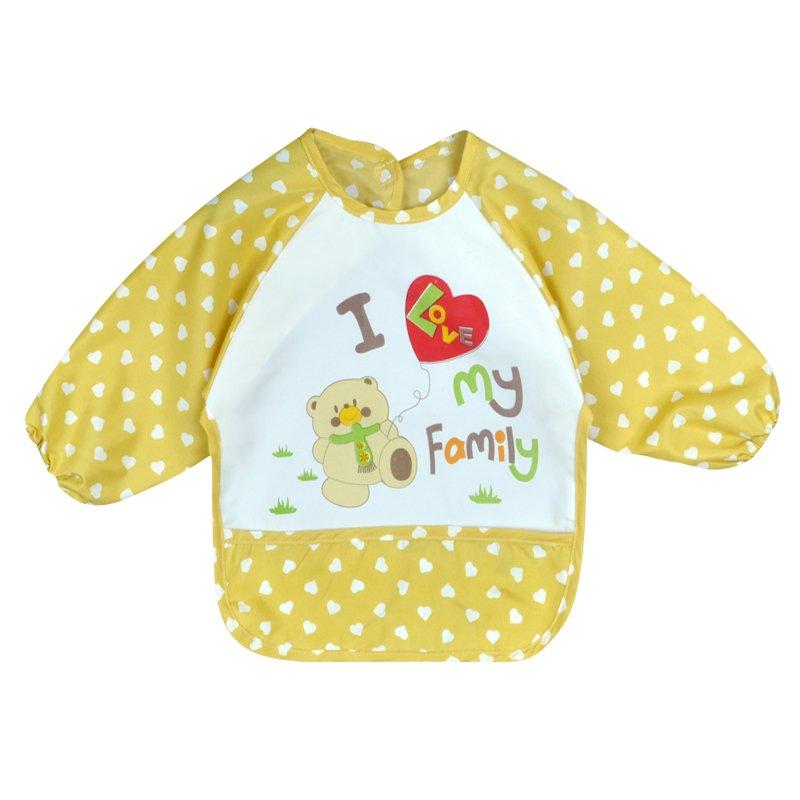 Children Bib Cartoon Printed Long Sleeve Baby Bib Infant Waterproof Apron Clothing 8 Pattern for Choose Y01(China (Mainland))