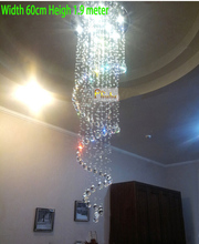 Modern Crystal Chandelier Light Fixtures Stair Crystal Chandelier Light Lighting  Guaranteed 100%+Free shipping!(China (Mainland))