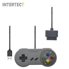Проводной Геймпад Ретро Super Nintendo для SNES Контроллер USB для ПК для MAC Контроллеры Геймпад Controle(China (Mainland))