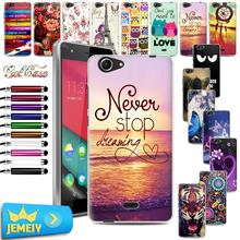 Art Printed TPU Gel Case Wiko Pulp fever 3G Fab 4G Back Cover rainbow up/slide 2 Soft Silicone Tempered Glasses - jemeiy second store
