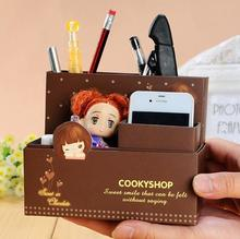 1 PCS Kawaii Paper Board Desk Accessories & Organizer Boxes DIY Paper Makeup Cosmetic Stationery Boxes Office Supplies(China (Mainland))