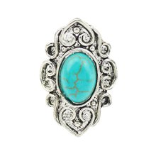 Fine Jewelry Classic Ring Royal Style Noble Big Rings Fashion For Women Alloy Plated Turquoise Stone High Quality
