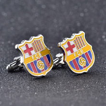 Buy 2017 New Spain Football Team Barca Cuff Links Enamel Cufflinks Mens Best Gift Exquisite Club Barcelona Sporty Cuff Links for $1.50 in AliExpress store