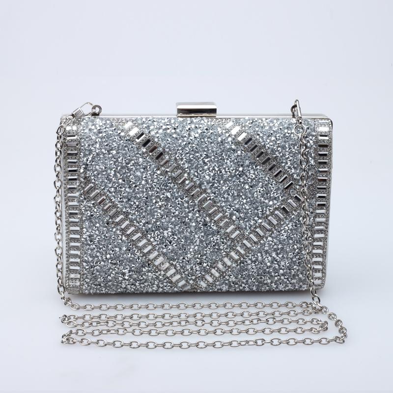 2015 new fall fashion evening handbags diamond single crystal beaded lady Clutch shoulder Messenger Bag