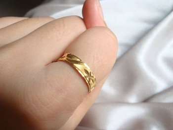 Wholesale New arrival fashion Jewelry vacuum plated 24K  gold Women's Ring Super price !Free Shipping JZR1