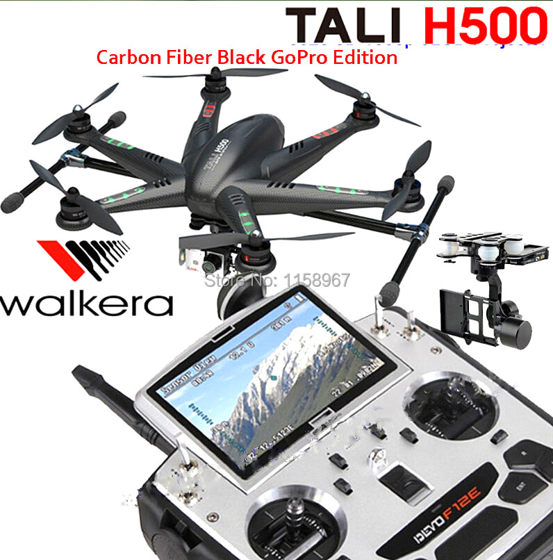 Walkera TALI H500 GoPro Version GPS Fiber Carbon FPV Hexacopter Drone DEVO F12E G-3D Gimbal TX5803 No Camera
