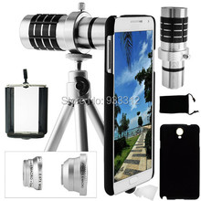 Wholesales/9 Piece Camera Lens Set:For Samsung Galaxy S3/S4/S5/S6 EAGE+ 12x Optical  Case Tripod Telephoto+3 Awesome Lenses