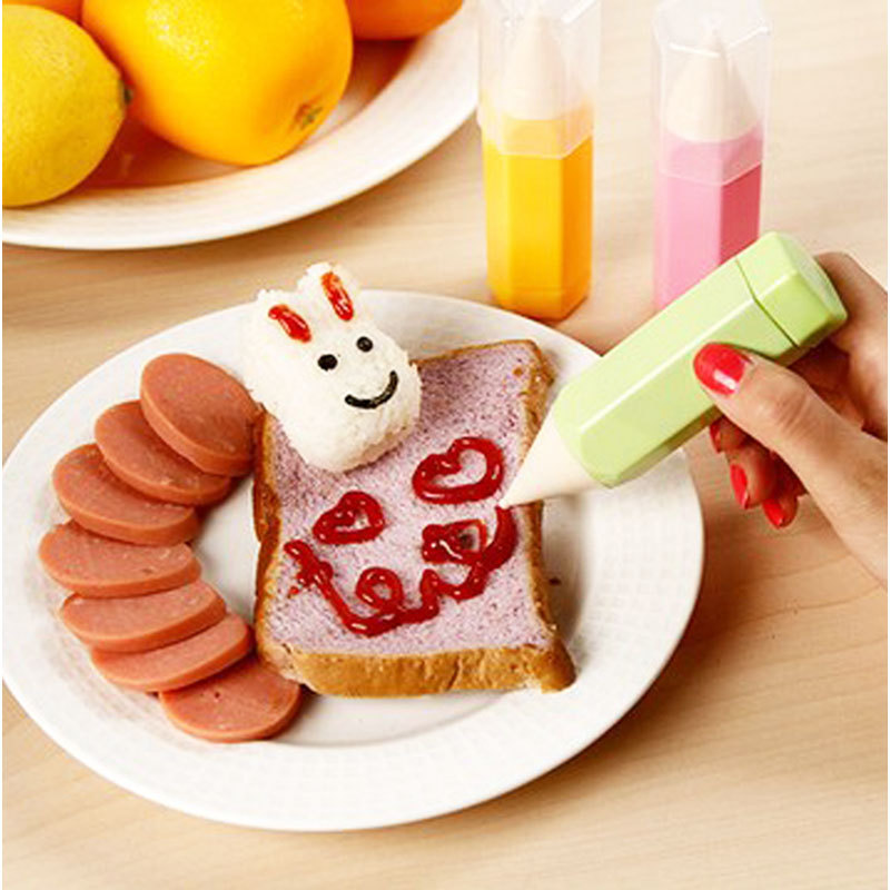 New Kitchen Use DIY Cookies Biscuit Cake Bread Cooking Mold Gourmet Drawing Pens Set #62801(China (Mainland))