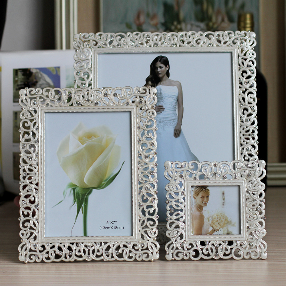 Europe Metal Picture Frame European Alloy Photo Frames Home Decor Item Wedding Gifts Photo Studio Gifts(China (Mainland))