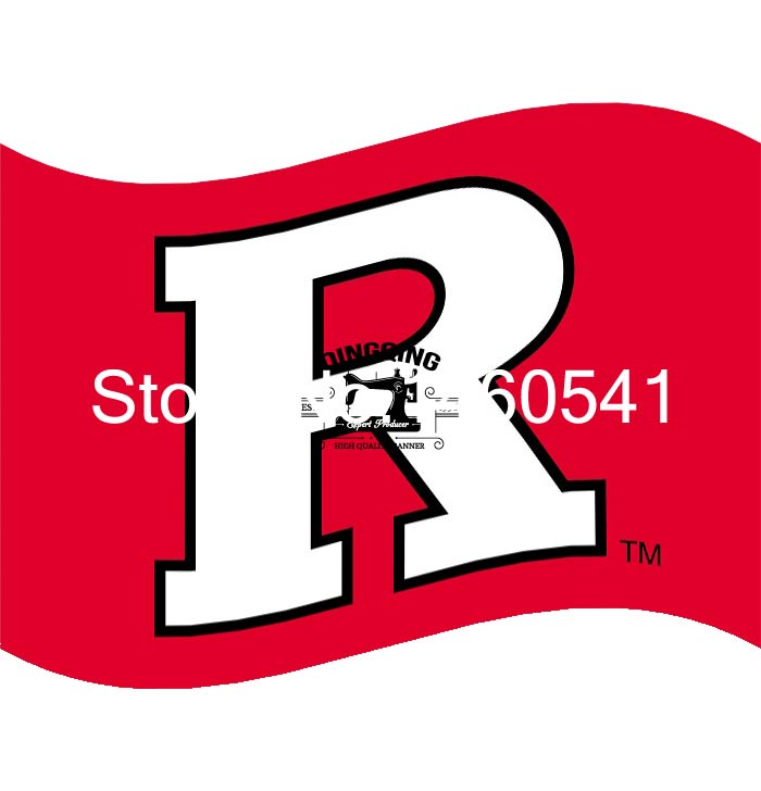 Rutgers Scarlet Knights Flag 3ft x 5ft Polyester NCAA Banner Flying Size No.4 144* 96cm QingQing Flag(China (Mainland))