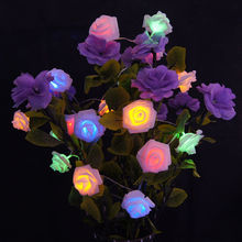 Buy 3M 4M Battery Operated Rose Fairy String Light Weeding Christmas Festival Party Colorful Lights 30 LEDs 40 LEDs for $13.09 in AliExpress store